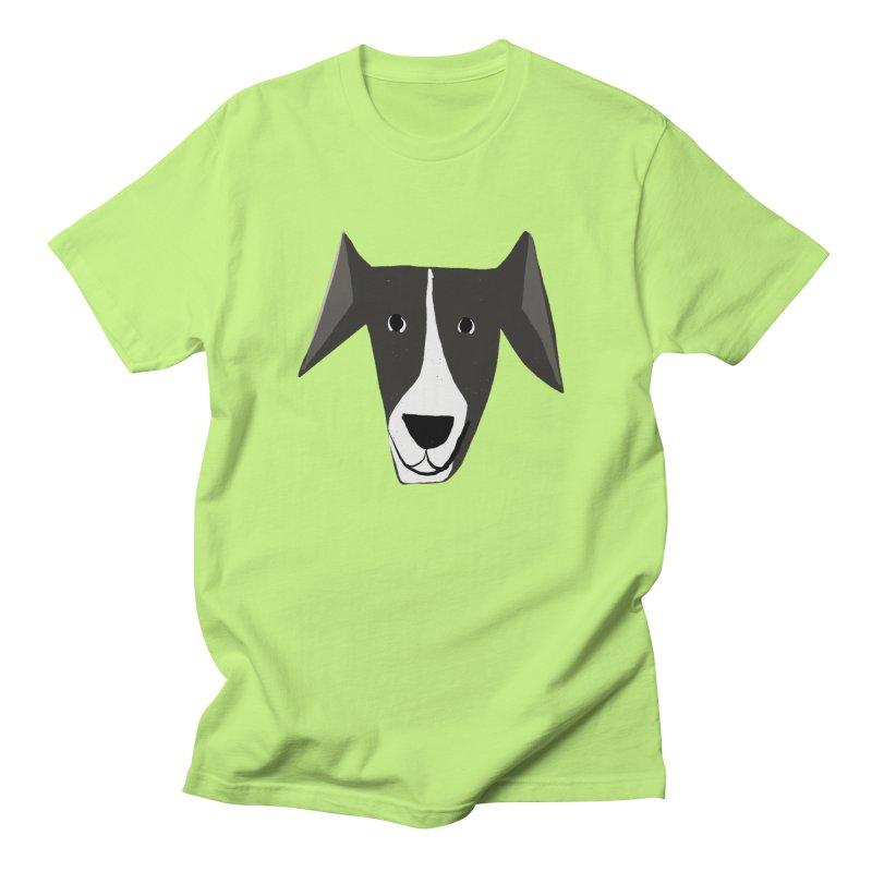 Dog Face 2 Men's Regular T-Shirt by Michael Pfleghaar