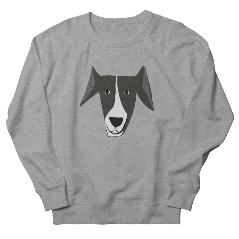 Dog Face 2 Men's French Terry Sweatshirt by Michael Pfleghaar