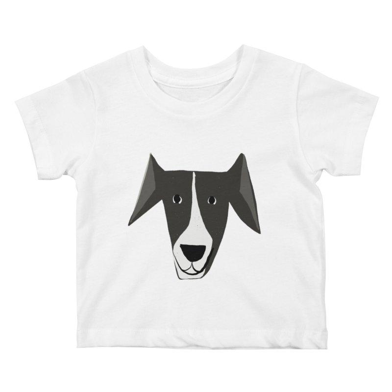 Dog Face 2 Kids Baby T-Shirt by Michael Pfleghaar