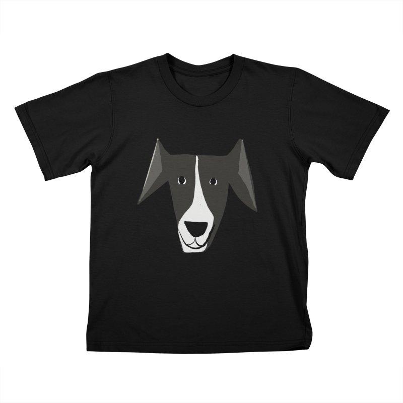 Dog Face 2 Kids T-Shirt by Michael Pfleghaar