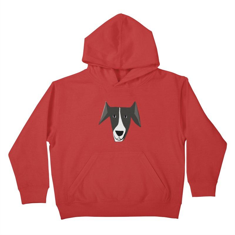 Dog Face 2 Kids Pullover Hoody by Michael Pfleghaar