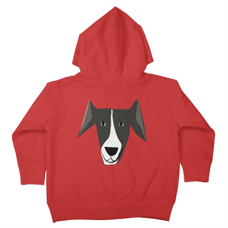 Dog Face 2 Kids Toddler Zip-Up Hoody by Michael Pfleghaar