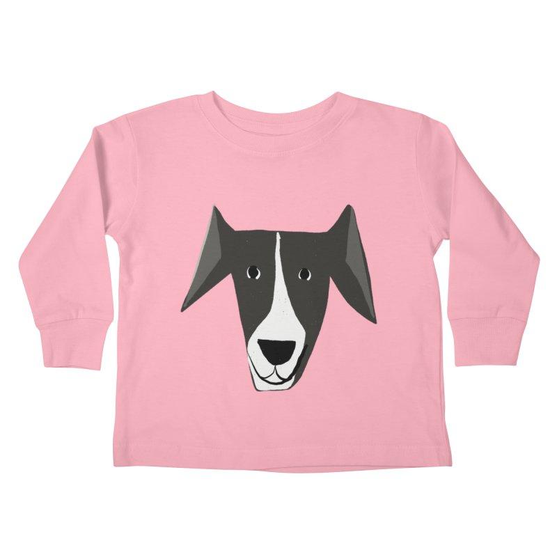 Dog Face 2 Kids Toddler Longsleeve T-Shirt by Michael Pfleghaar