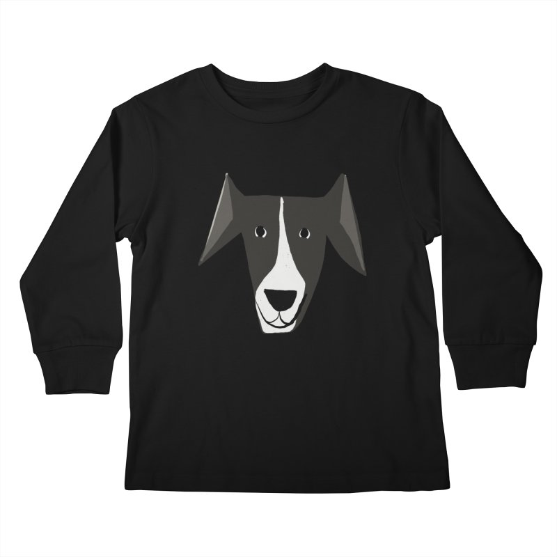 Dog Face 2 Kids Longsleeve T-Shirt by Michael Pfleghaar
