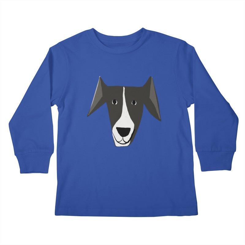 Dog Face 2 Kids Longsleeve T-Shirt by Michael Pfleghaar