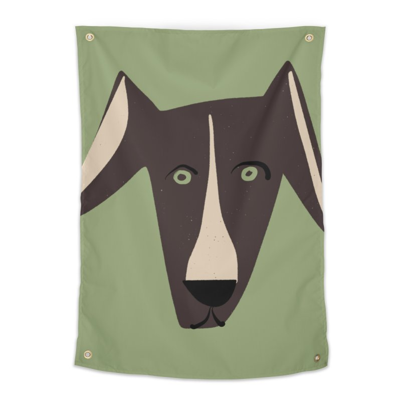 Dog Face 3 Home Tapestry by Michael Pfleghaar