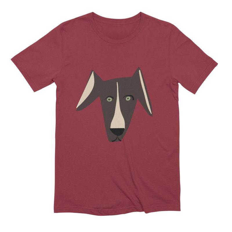 Dog Face 3 Men's Extra Soft T-Shirt by Michael Pfleghaar