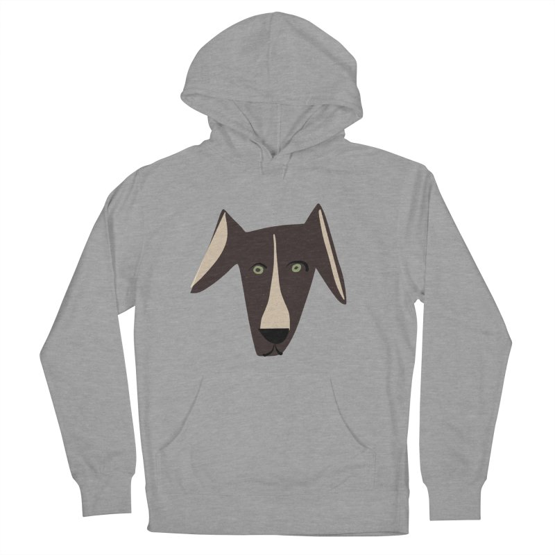 Dog Face 3 Women's French Terry Pullover Hoody by Michael Pfleghaar