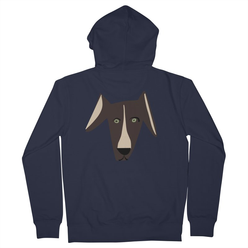 Dog Face 3 Women's French Terry Zip-Up Hoody by Michael Pfleghaar