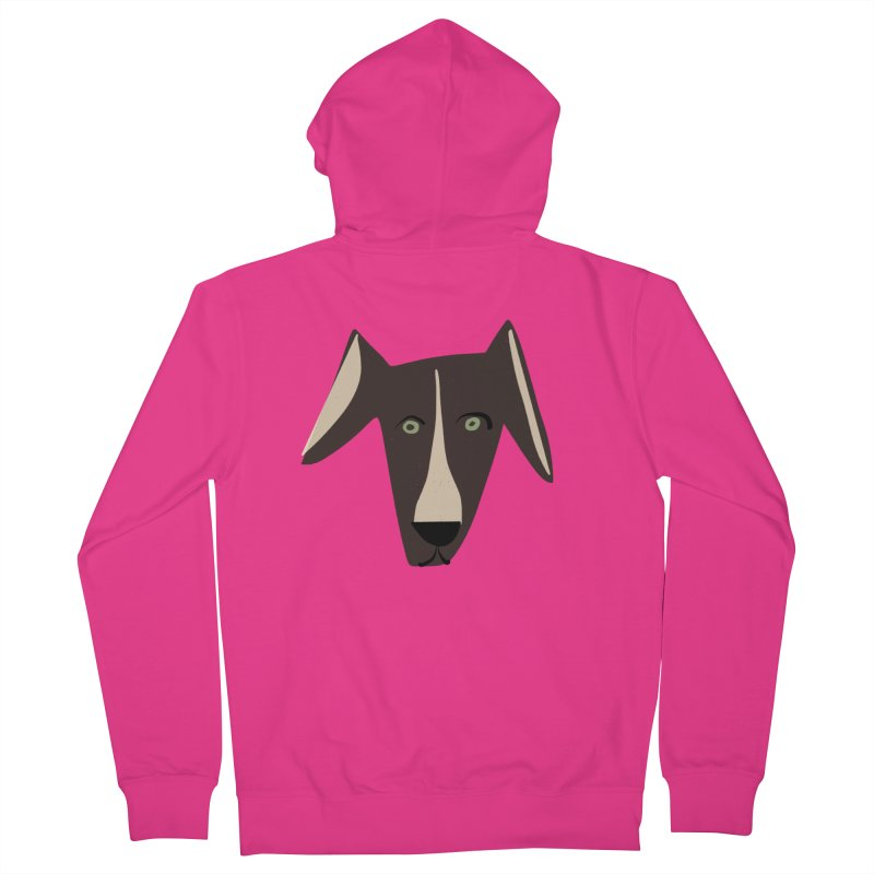 Dog Face 3 Men's French Terry Zip-Up Hoody by Michael Pfleghaar