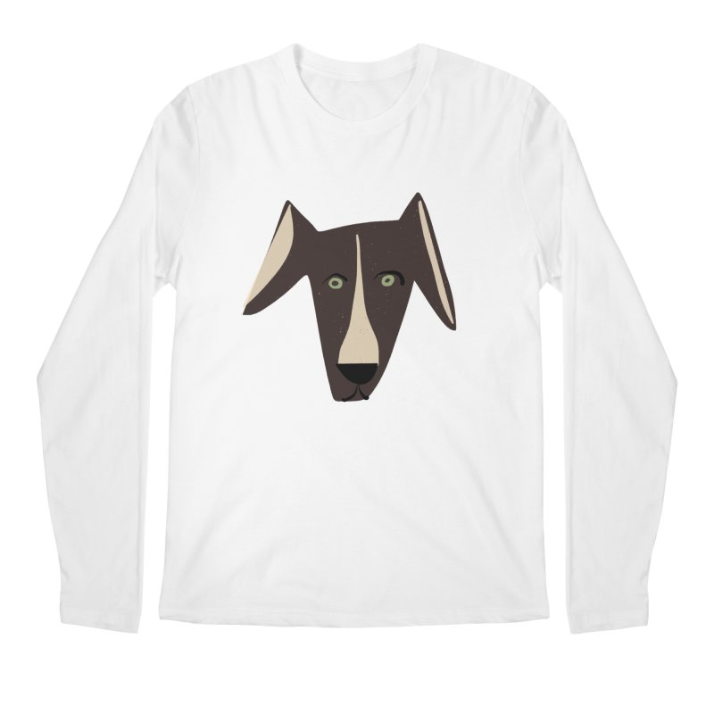 Dog Face 3 Men's Regular Longsleeve T-Shirt by Michael Pfleghaar