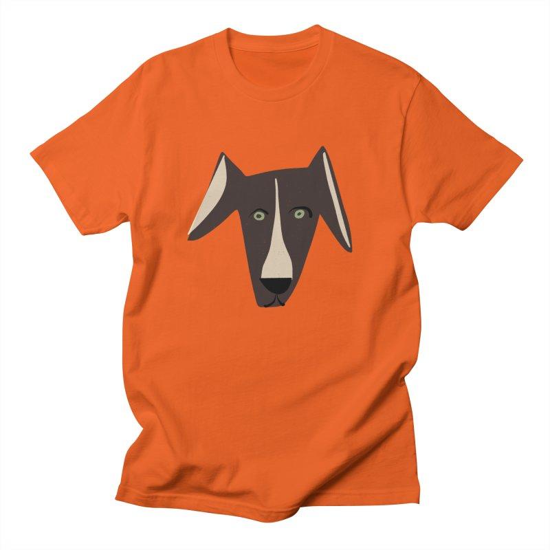 Dog Face 3 Men's Regular T-Shirt by Michael Pfleghaar