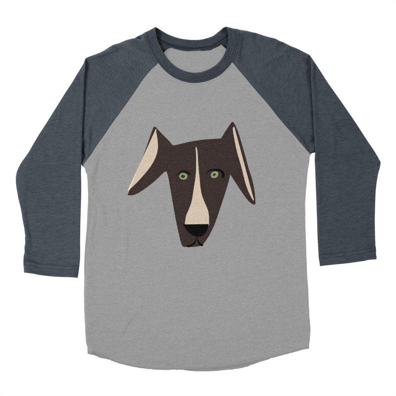 Dog Face 3 Men's Baseball Triblend Longsleeve T-Shirt by Michael Pfleghaar