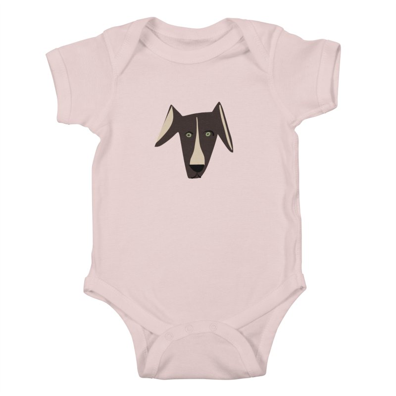 Dog Face 3 Kids Baby Bodysuit by Michael Pfleghaar