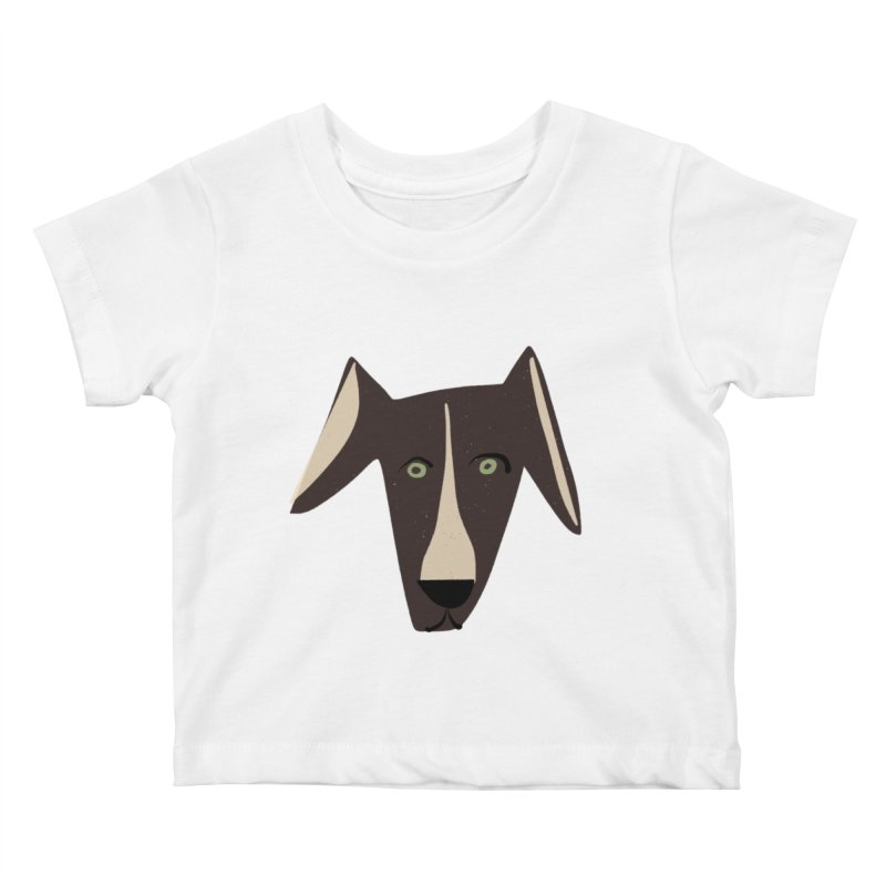 Dog Face 3 Kids Baby T-Shirt by Michael Pfleghaar