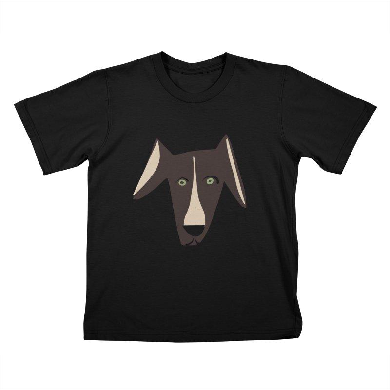 Dog Face 3 Kids T-Shirt by Michael Pfleghaar