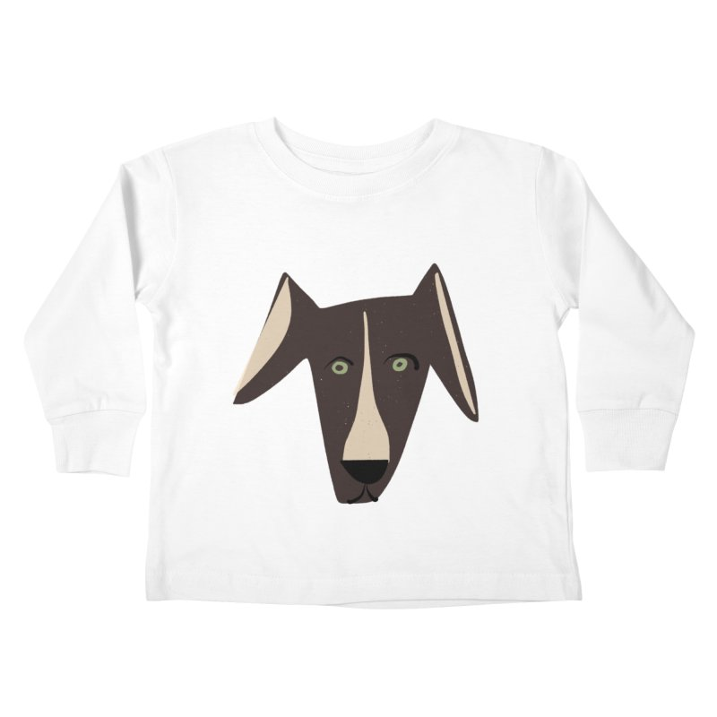 Dog Face 3 Kids Toddler Longsleeve T-Shirt by Michael Pfleghaar