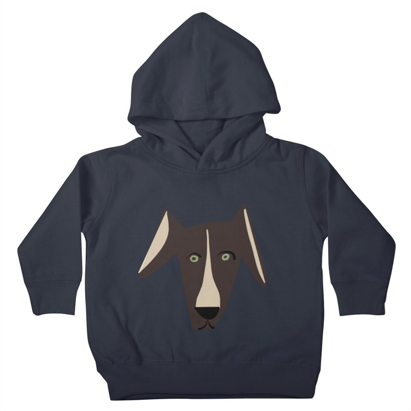 Dog Face 3 Kids Toddler Pullover Hoody by Michael Pfleghaar