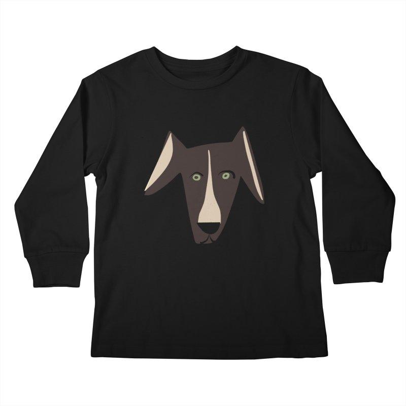 Dog Face 3 Kids Longsleeve T-Shirt by Michael Pfleghaar
