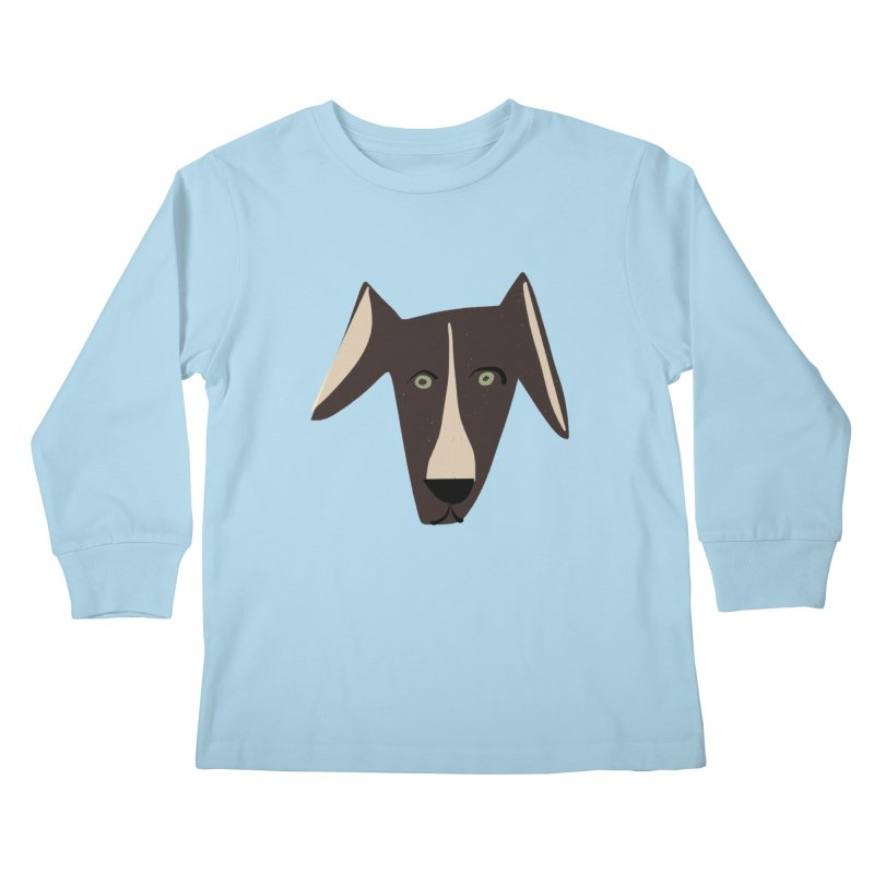 Dog Face 3 Kids Longsleeve T-Shirt by Michael Pfleghaar