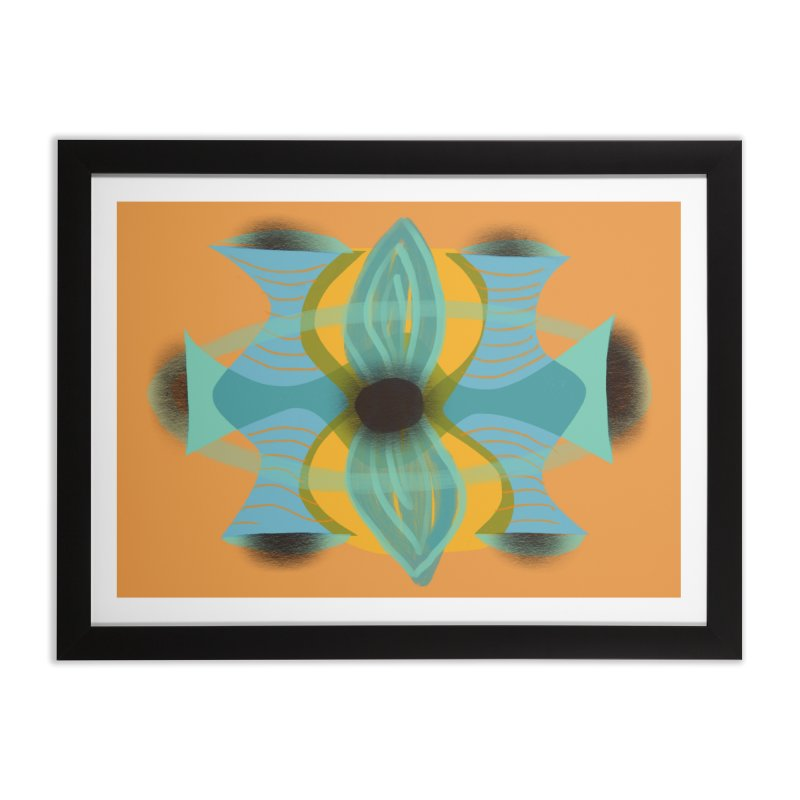 Sound Flower in Framed Fine Art Print Black by Michael Pfleghaar