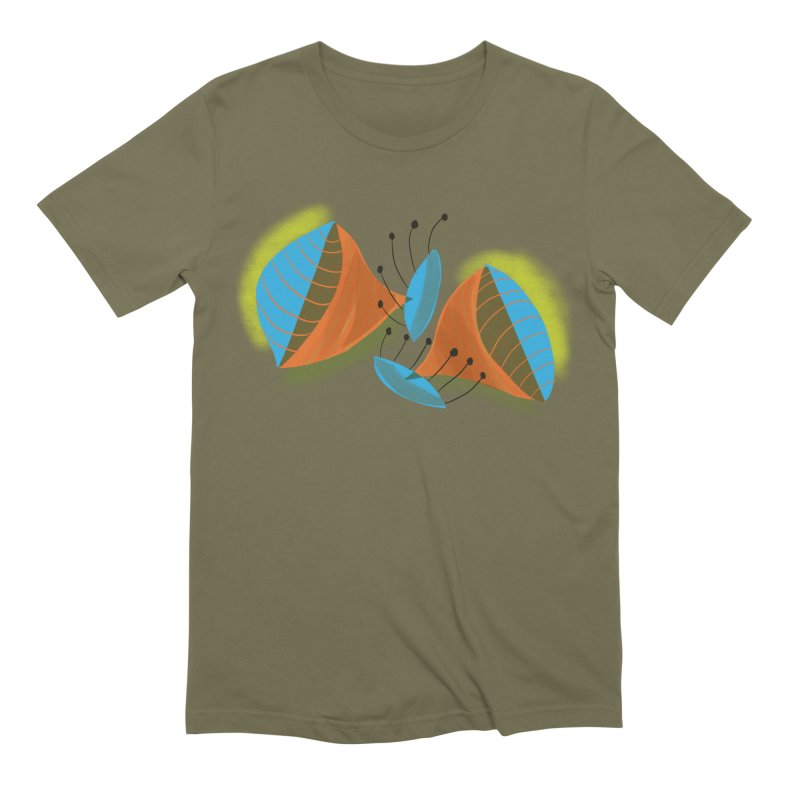 Trumpets 3 in Men's Extra Soft T-Shirt Olive by Michael Pfleghaar
