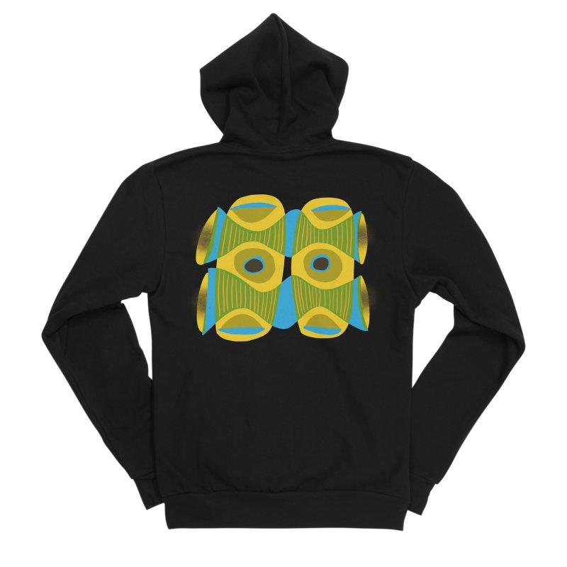 Tiki Mask Women's Sponge Fleece Zip-Up Hoody by Michael Pfleghaar