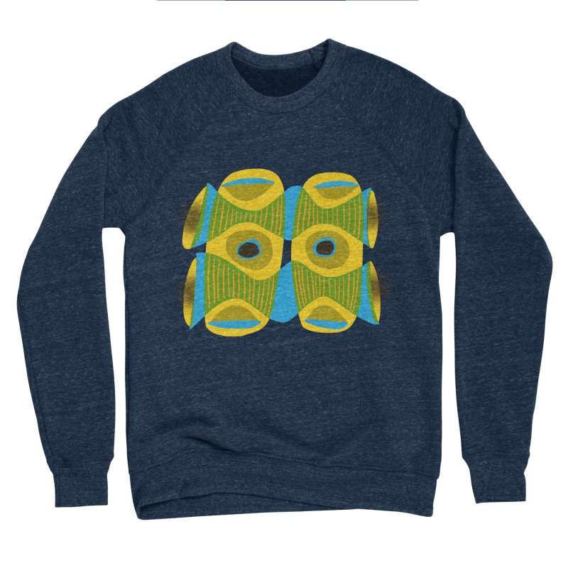 Tiki Mask Men's Sponge Fleece Sweatshirt by Michael Pfleghaar