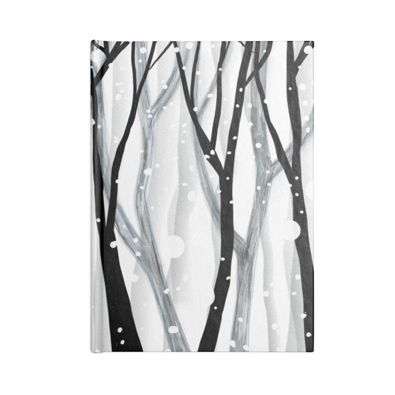Winter Snowfall Accessories Blank Journal Notebook by Michael Pfleghaar