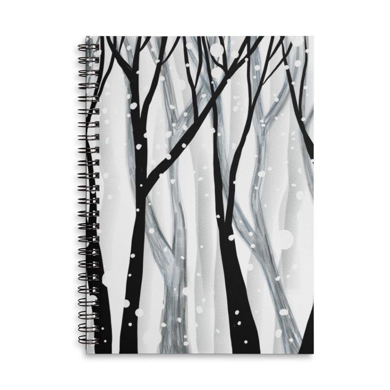 Winter Snowfall Accessories Lined Spiral Notebook by Michael Pfleghaar