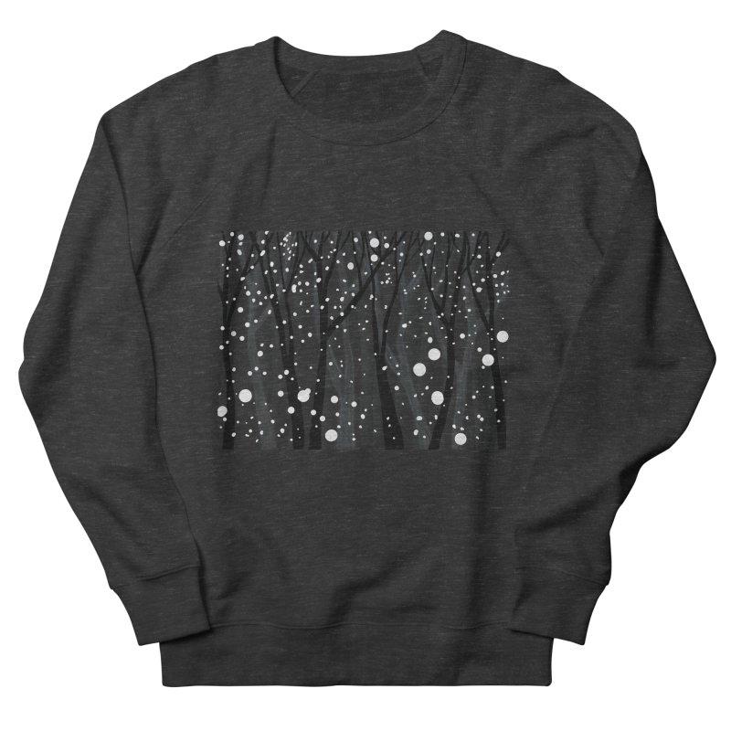 Winter Snowfall Women's French Terry Sweatshirt by Michael Pfleghaar
