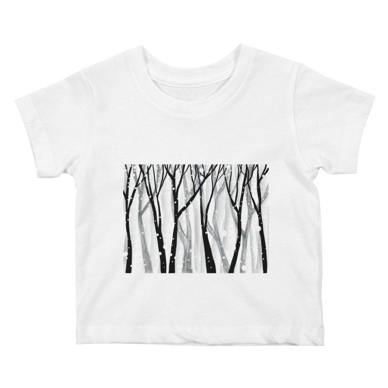 Winter Snowfall Kids Baby T-Shirt by Michael Pfleghaar
