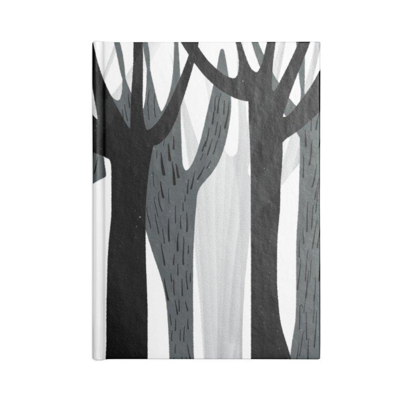 Winter Forest Accessories Blank Journal Notebook by Michael Pfleghaar