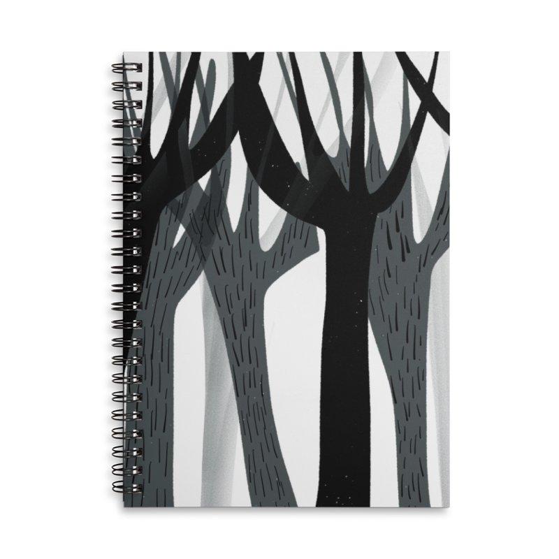Winter Forest Accessories Lined Spiral Notebook by Michael Pfleghaar
