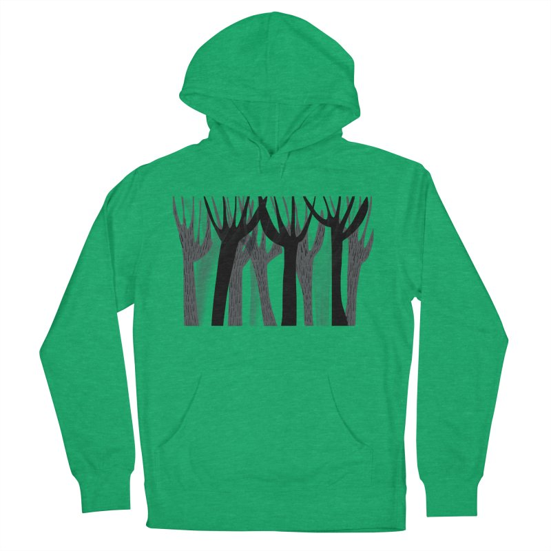 Winter Forest Women's French Terry Pullover Hoody by Michael Pfleghaar