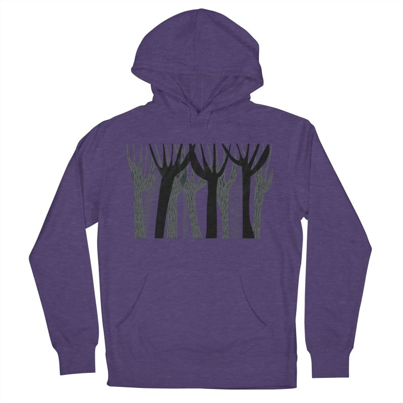 Winter Forest Men's French Terry Pullover Hoody by Michael Pfleghaar
