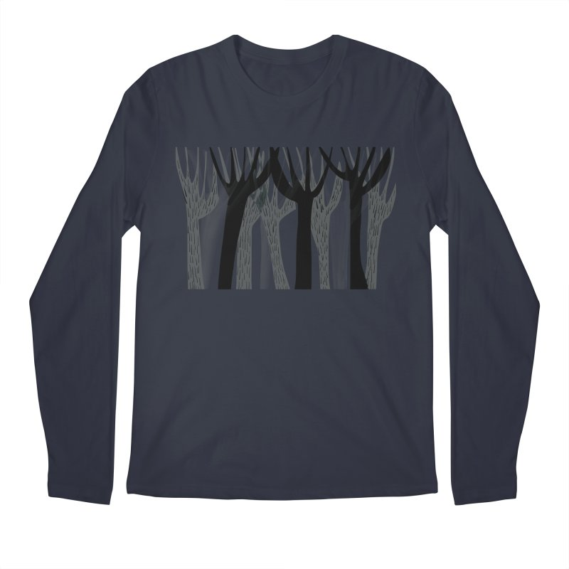 Winter Forest Men's Regular Longsleeve T-Shirt by Michael Pfleghaar
