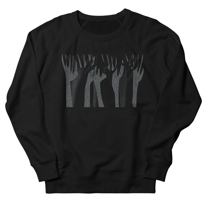 Winter Forest Women's French Terry Sweatshirt by Michael Pfleghaar