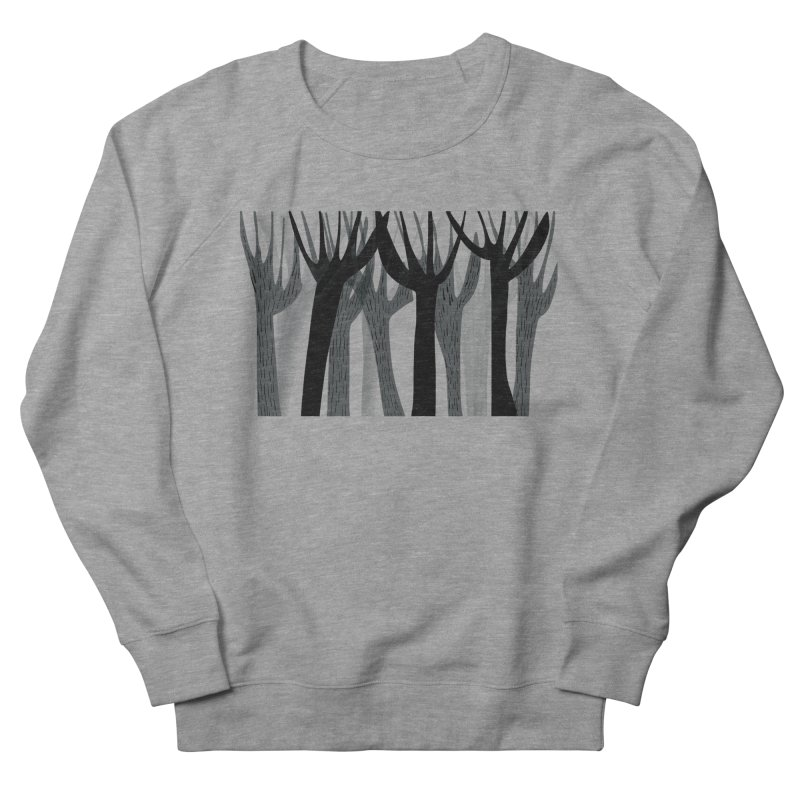 Winter Forest Men's French Terry Sweatshirt by Michael Pfleghaar