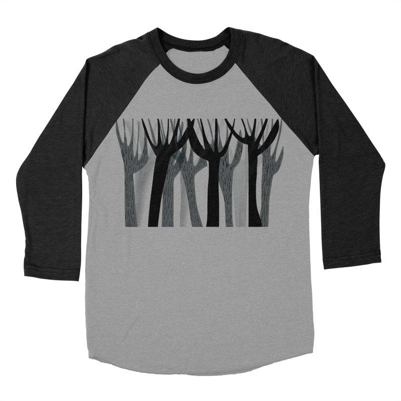 Winter Forest Men's Baseball Triblend Longsleeve T-Shirt by Michael Pfleghaar