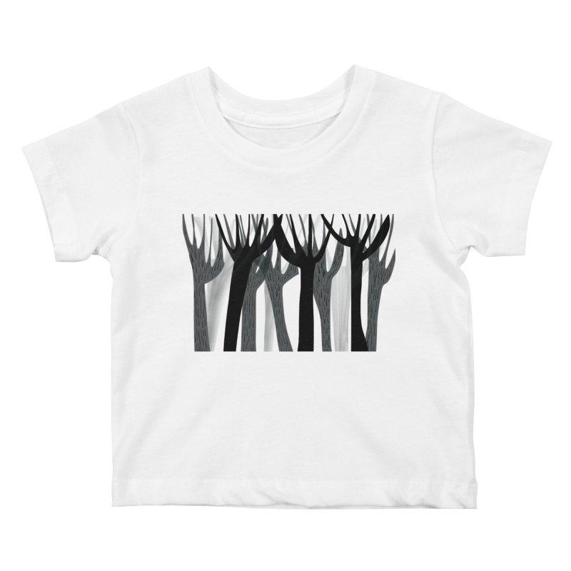 Winter Forest Kids Baby T-Shirt by Michael Pfleghaar