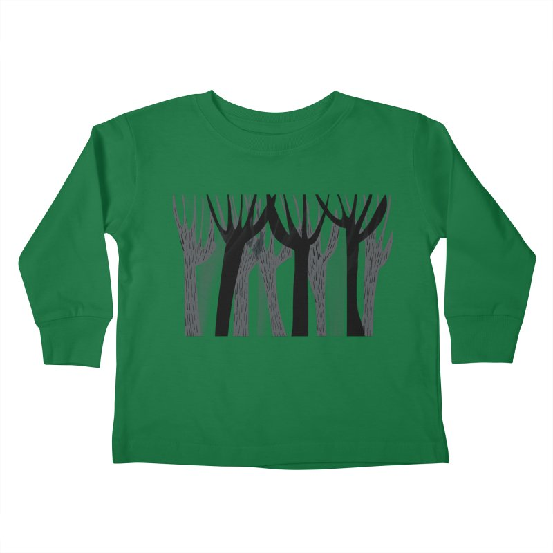 Winter Forest Kids Toddler Longsleeve T-Shirt by Michael Pfleghaar