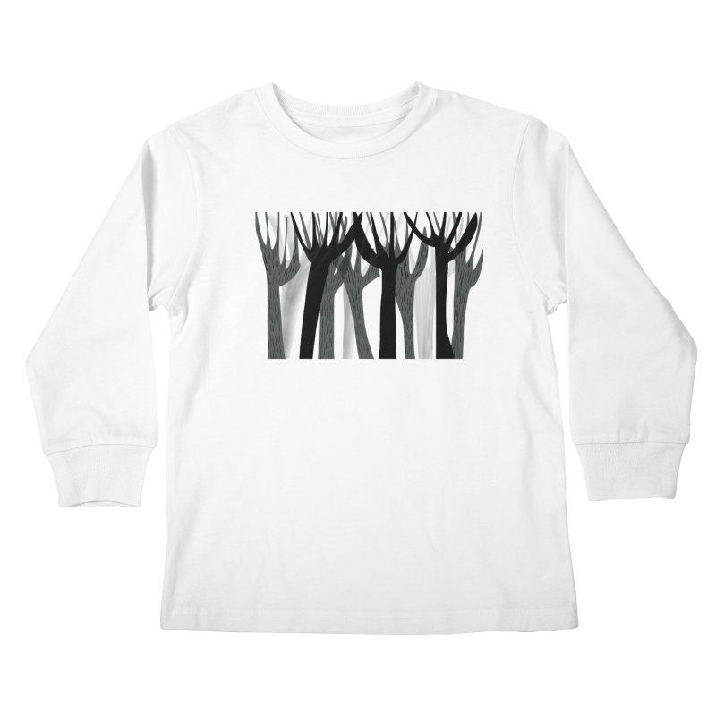 Winter Forest Kids Longsleeve T-Shirt by Michael Pfleghaar