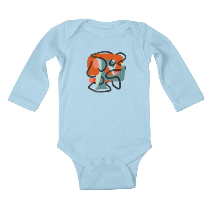 Dance 5 Kids Baby Longsleeve Bodysuit by Michael Pfleghaar