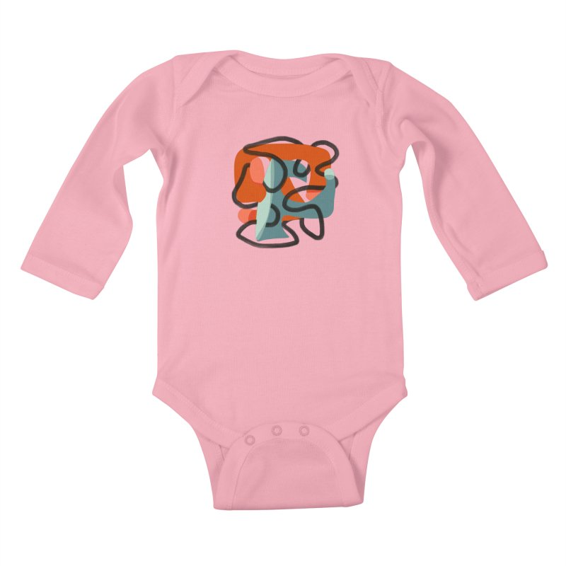 Dance 5 Kids Baby Longsleeve Bodysuit by Michael Pfleghaar