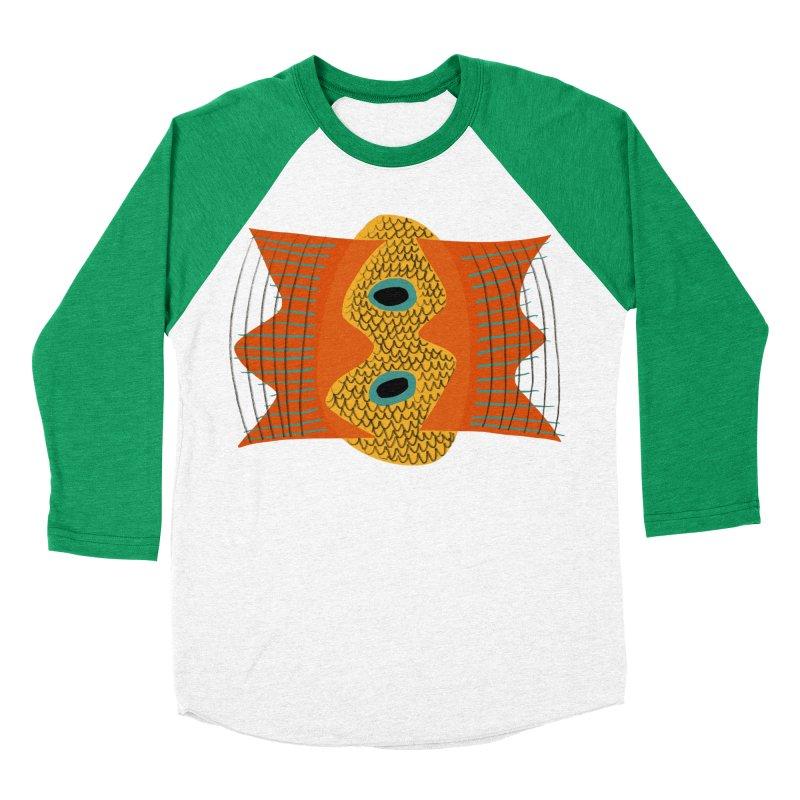 Flying Fish Men's Baseball Triblend Longsleeve T-Shirt by Michael Pfleghaar