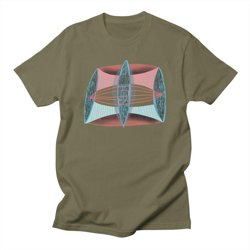 Trifecta in Men's T-Shirt Olive by Michael Pfleghaar