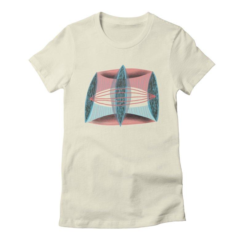 Trifecta Women's Fitted T-Shirt by Michael Pfleghaar