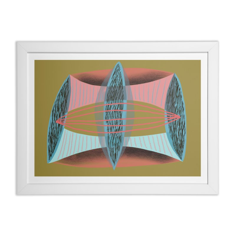 Trifecta in Framed Fine Art Print White by Michael Pfleghaar