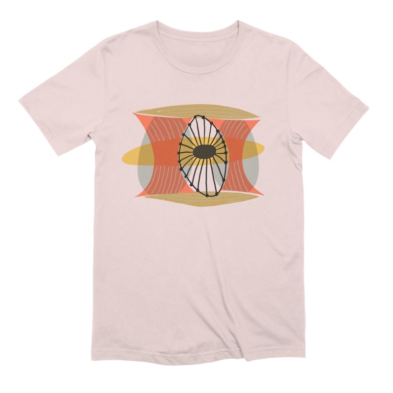 Wheel in Men's Extra Soft T-Shirt Soft Pink by Michael Pfleghaar